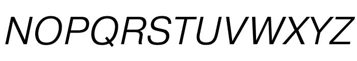 Pragmatica Extended Light Oblique Font UPPERCASE