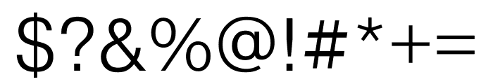 Pragmatica Extended Light Font OTHER CHARS