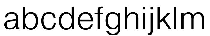 Pragmatica Extended Light Font LOWERCASE