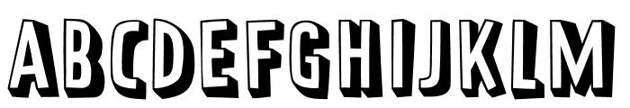 Prater Block Fill Pro Regular Font UPPERCASE