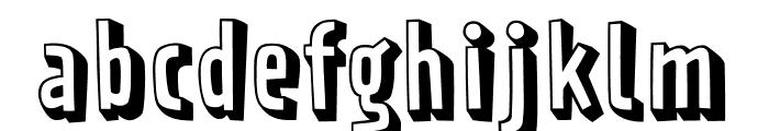 Prater Block Fill Pro Regular Font LOWERCASE
