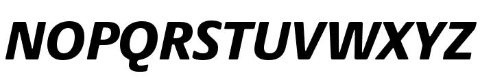 Praxis Next Condensed Black Italic Font UPPERCASE