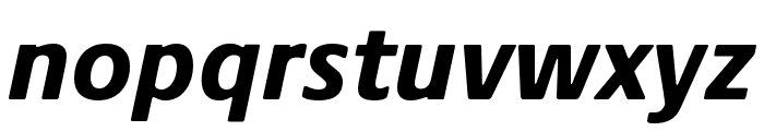 Praxis Next Condensed Black Italic Font LOWERCASE