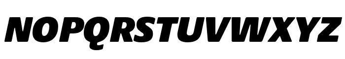 Praxis Next Condensed ExtraBlack Italic Font UPPERCASE