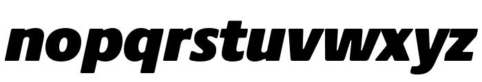 Praxis Next Condensed ExtraBlack Italic Font LOWERCASE