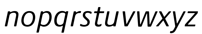Praxis Next Condensed Italic Font LOWERCASE