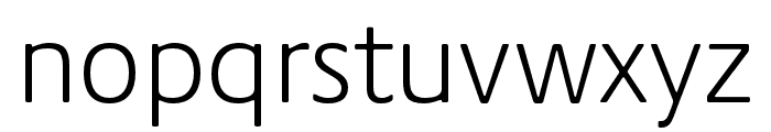 Praxis Next Condensed Light Font LOWERCASE