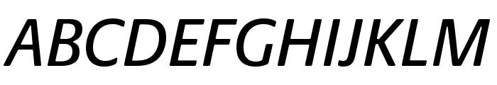 Praxis Next Condensed Medium Italic Font UPPERCASE