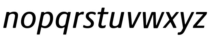 Praxis Next Condensed Medium Italic Font LOWERCASE