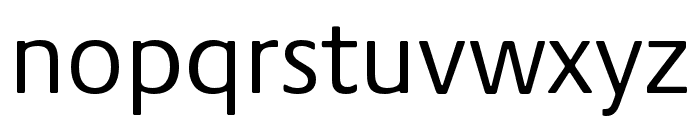 Praxis Next Condensed Regular Font LOWERCASE