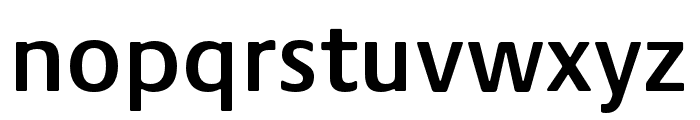 Praxis Next Condensed SemiBold Font LOWERCASE