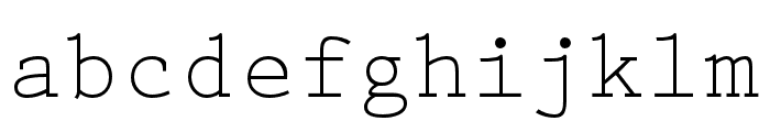 Prestige Elite Std Regular Font LOWERCASE