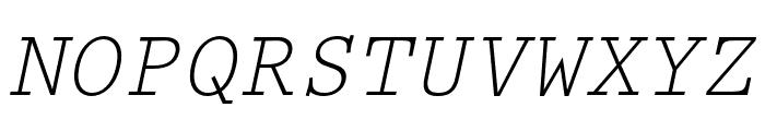Prestige Elite Std Slanted Font UPPERCASE
