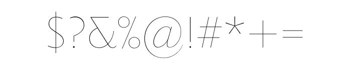 Priori Sans OT Ultra Light Font OTHER CHARS