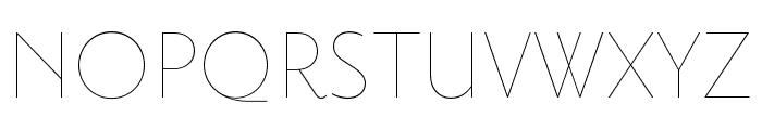 Priori Sans OT Ultra Light Font UPPERCASE