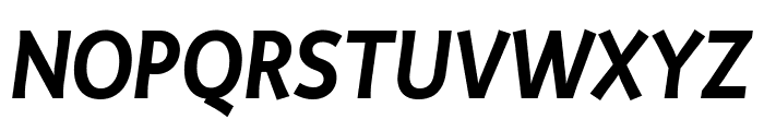 Productus Semi Bold Italic Font UPPERCASE