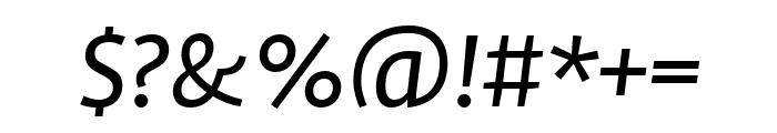 Profile Pro Regular Italic Font OTHER CHARS