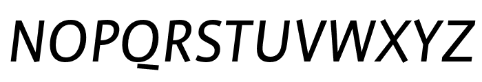 Profile Pro Regular Italic Font UPPERCASE