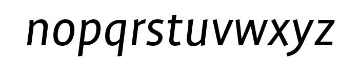 Profile Pro Regular Italic Font LOWERCASE