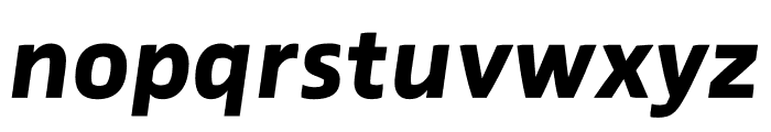 Prosaic Std ExtraBold Italic Font LOWERCASE