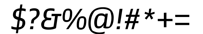 Prosaic Std Italic Font OTHER CHARS