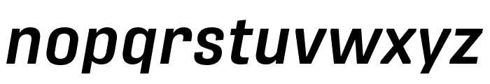 Protipo Narrow Medium Italic Font LOWERCASE