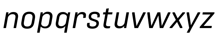 Protipo Regular Italic Font LOWERCASE