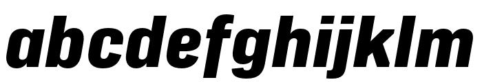 Protipo Wide Extrabold Italic Font LOWERCASE