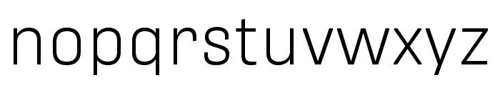 Protipo Wide Light Italic Font LOWERCASE