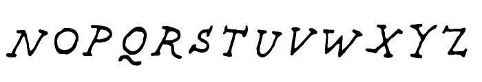 Providence Pro Regular Italic Font UPPERCASE