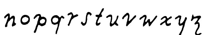 Providence Pro Regular Italic Font LOWERCASE