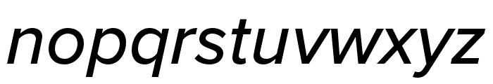 Proxima Nova Extra Condensed Medium Italic Font LOWERCASE
