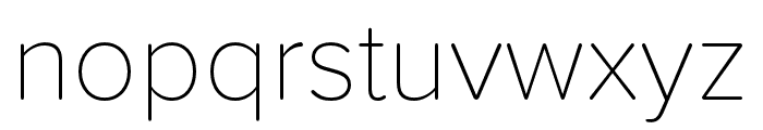 Proxima Soft Condensed Thin Font LOWERCASE