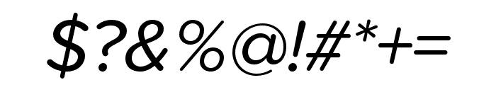 Proxima Soft Extra Condensed Italic Font OTHER CHARS