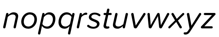 Proxima Soft Extra Condensed Italic Font LOWERCASE