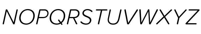 Proxima Soft Extra Condensed Light Italic Font UPPERCASE