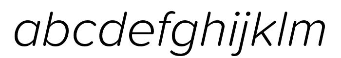Proxima Soft Extra Condensed Light Italic Font LOWERCASE