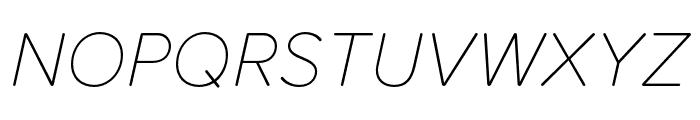 Proxima Soft Extra Condensed Thin Italic Font UPPERCASE