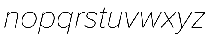 Proxima Soft Extra Condensed Thin Italic Font LOWERCASE
