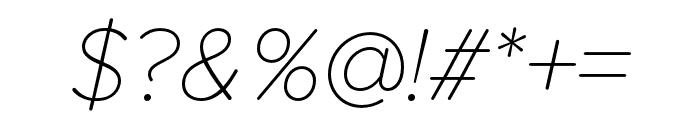 Proxima Soft Thin Italic Font OTHER CHARS