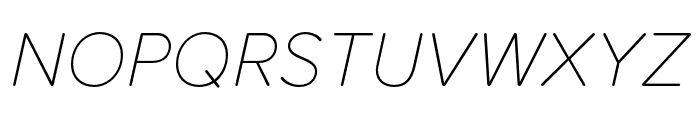 Proxima Soft Thin Italic Font UPPERCASE