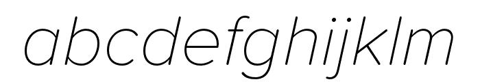 Proxima Soft Thin Italic Font LOWERCASE