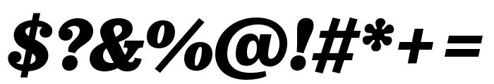 Pulpo Black Italic Font OTHER CHARS