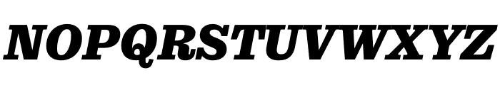 Pulpo Black Italic Font UPPERCASE