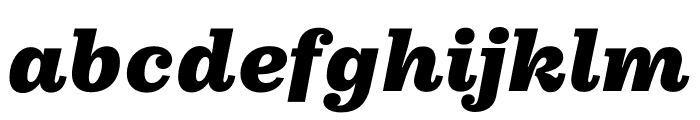 Pulpo Black Italic Font LOWERCASE