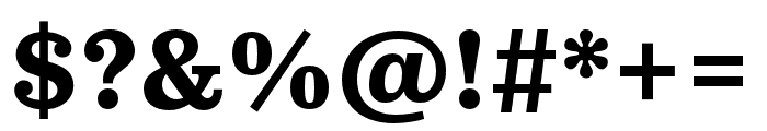 Pulpo Bold Font OTHER CHARS