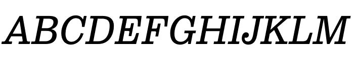 Pulpo Light Italic Font UPPERCASE