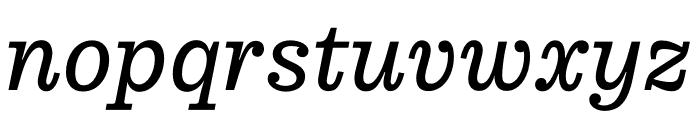 Pulpo Light Italic Font LOWERCASE