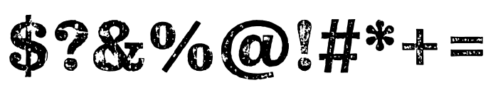 Pulpo Rust 100 Font OTHER CHARS