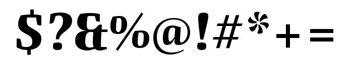 Quador Display Bold Italic Font OTHER CHARS